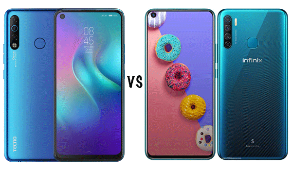 tecno camon 12 air vs infinix s5