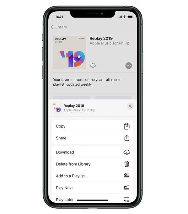 Apple music replay iPhone