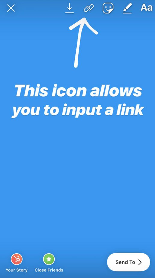 adding links to Instagram story