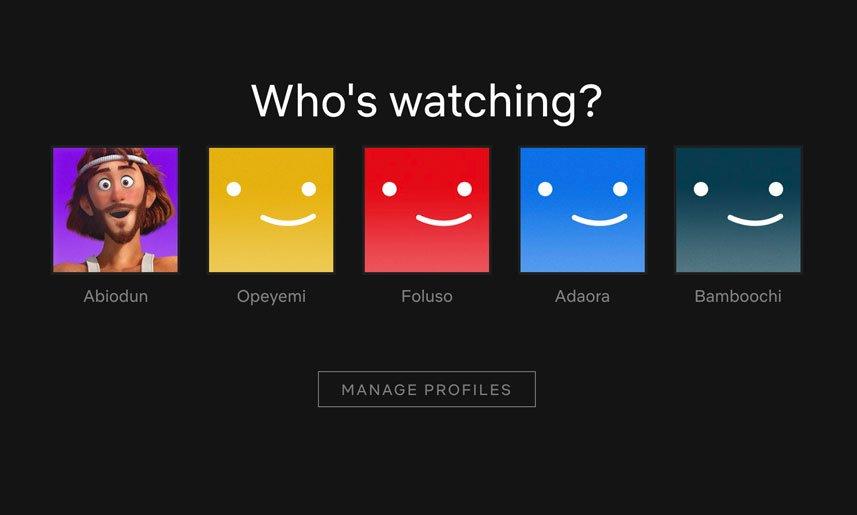Netflix profiles