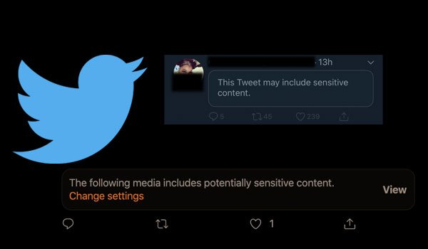 Twitter sensitive content
