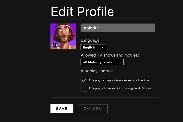 how to disable Netflix autoplay for trailers