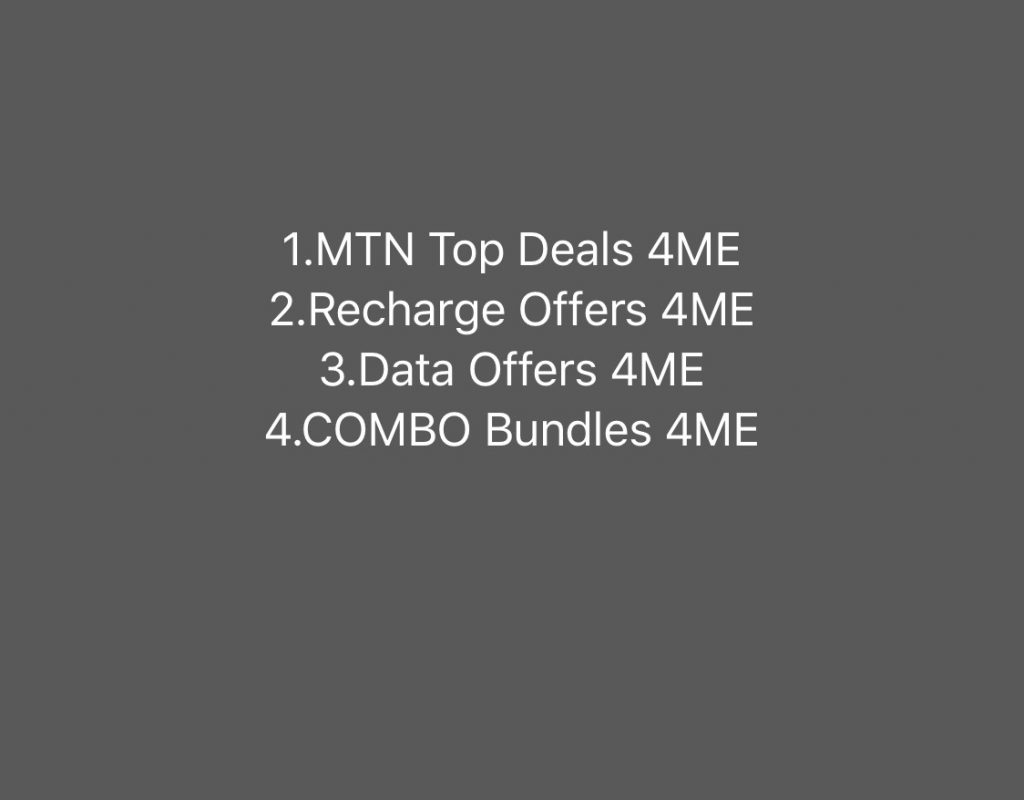 MTN DATA Offers 4ME