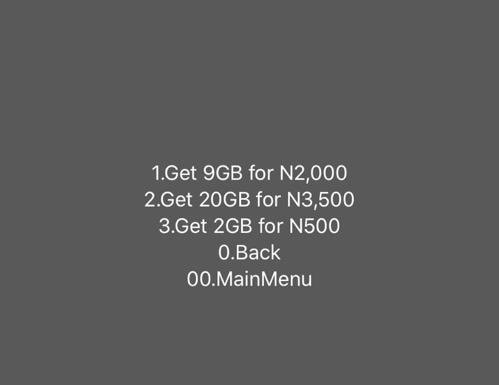MTN 20GB data for N3,500