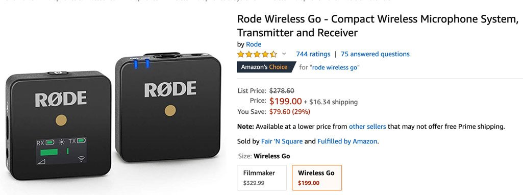 Rode Go Microphone Amazon