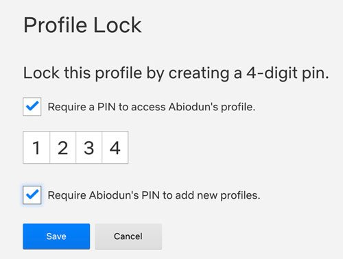 set a pin lock for your netflix profile
