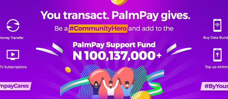 Palmpay app COVID-19 relief funds
