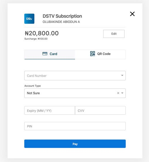 Make DSTV payment with Quickteller