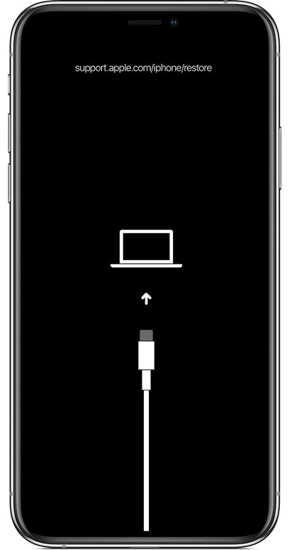 iPhone restore screen - fix iPhone stuck on Apple logo