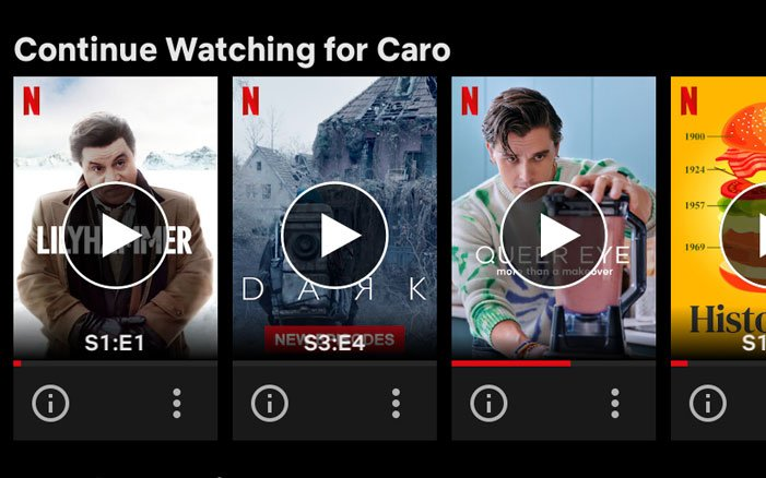 remove a film from continue watching row on netflix