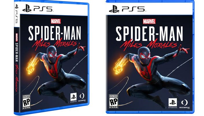 ps5 game box art spider-man miles morales