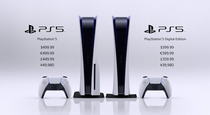 Playstation 5 console pricing