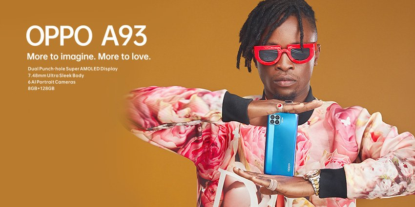 BBNaija star, Laycon poses with the Oppo A93