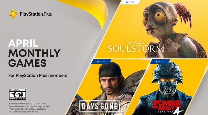 ps plus free games april 2021