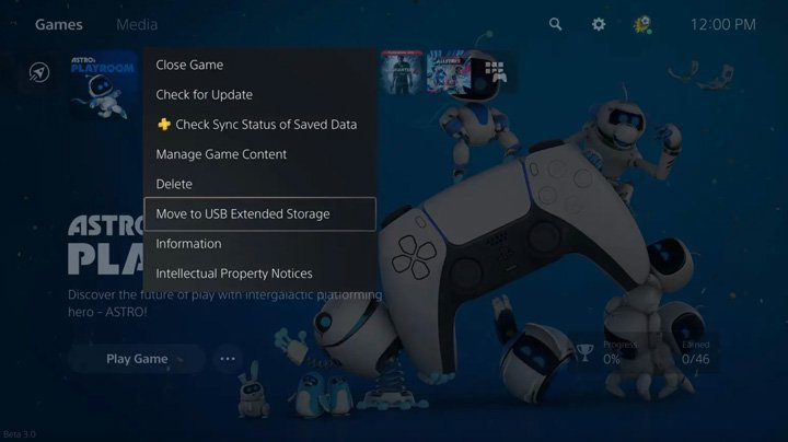 move ps5 games to external usb drive