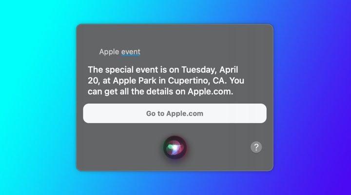 Siri - apple event