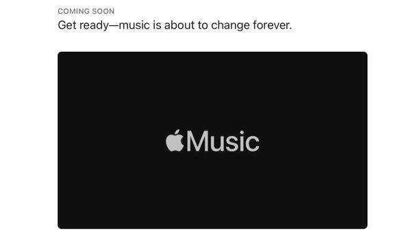 Hi-Fi audio teaser on Apple Music