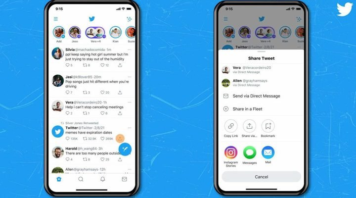 share tweets directly to Instagram stories