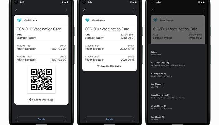 Digital COVID Vaccine cards