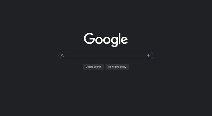 google search desktop dark mode